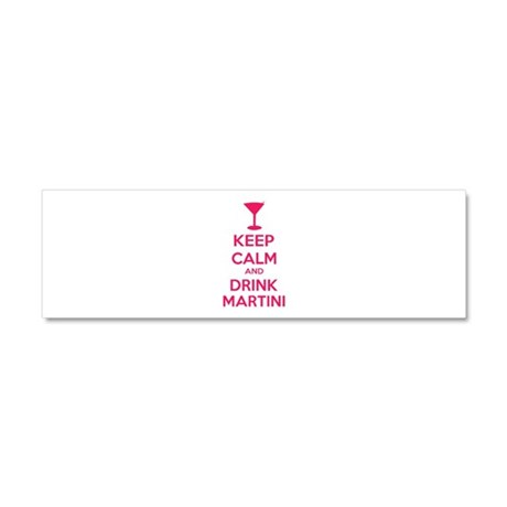 Keep calm and drink martini Car Magnet 10 x 3