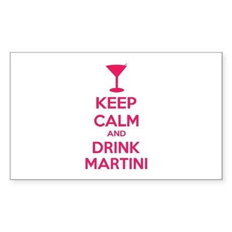 Keep calm and drink martini Sticker (Rectangle)