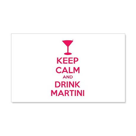 Keep calm and drink martini 22x14 Wall Peel