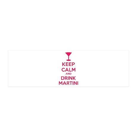 Keep calm and drink martini 42x14 Wall Peel