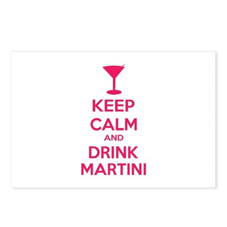 Keep calm and drink martini Postcards (Package of