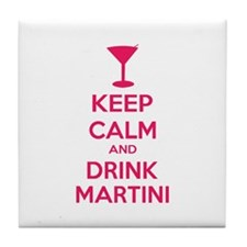Keep calm and drink martini Tile Coaster