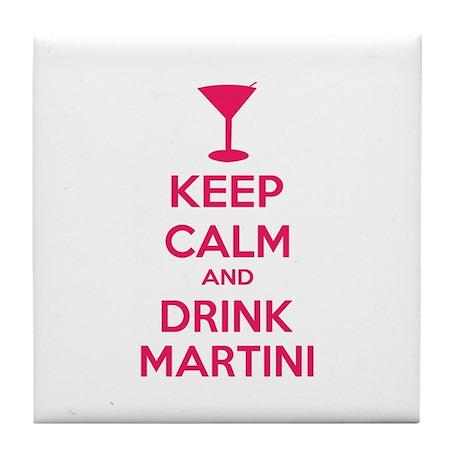 Keep calm and drink martini Tile Coaster