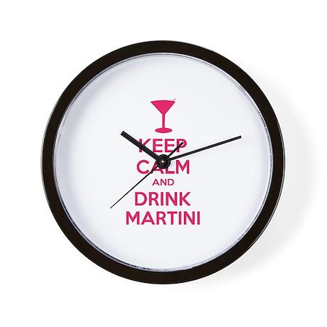 Keep calm and drink martini Wall Clock
