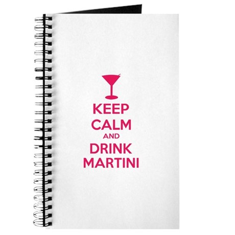 Keep calm and drink martini Journal