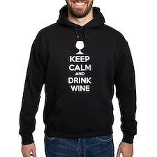 Keep calm and drink wine Hoody