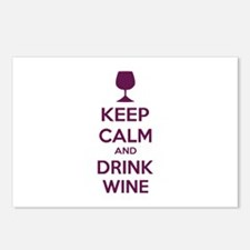 Keep calm and drink wine Postcards (Package of 8)
