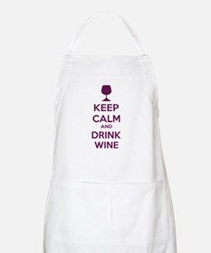 Keep calm and drink wine Apron