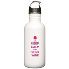 Keep calm and drink wine Water Bottle