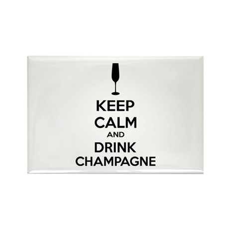 Keep calm and drink champagne Rectangle Magnet (10