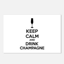 Keep calm and drink champagne Postcards (Package o