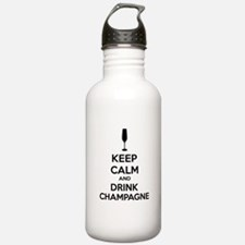 Keep calm and drink champagne Water Bottle