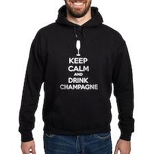 Keep calm and drink champagne Hoodie