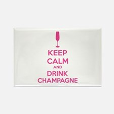 Keep calm and drink champagne Rectangle Magnet