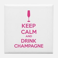 Keep calm and drink champagne Tile Coaster