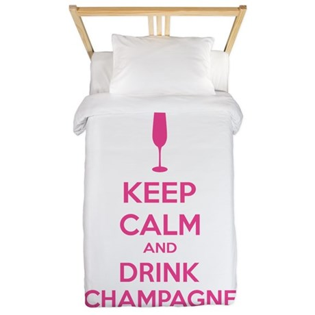 Keep calm and drink champagne Twin Duvet