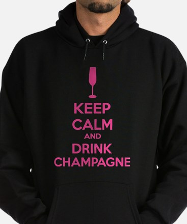 Keep calm and drink champagne Hoodie (dark)