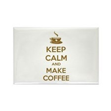 Keep calm and make coffee Rectangle Magnet
