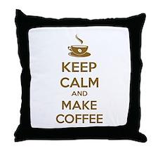 Keep calm and make coffee Throw Pillow