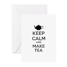 Keep calm and make tea Greeting Cards (Pk of 10)