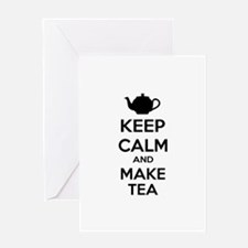 Keep calm and make tea Greeting Card