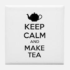 Keep calm and make tea Tile Coaster