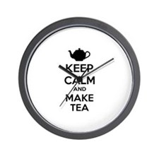Keep calm and make tea Wall Clock
