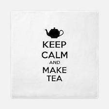 Keep calm and make tea Queen Duvet