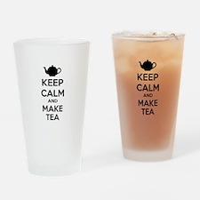 Keep calm and make tea Drinking Glass
