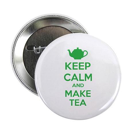 "Keep calm and make tea 2.25"" Button (100 pack)"