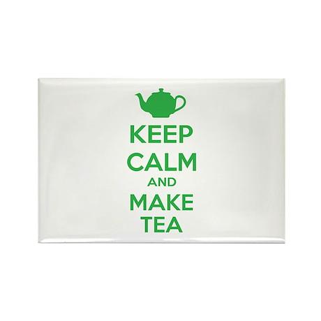 Keep calm and make tea Rectangle Magnet (100 pack)