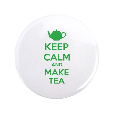 "Keep calm and make tea 3.5"" Button"