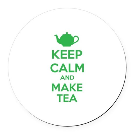 Keep calm and make tea Round Car Magnet
