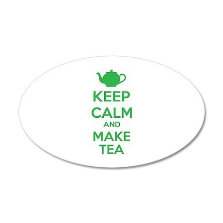 Keep calm and make tea 22x14 Oval Wall Peel