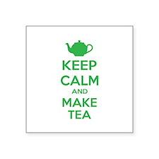 "Keep calm and make tea Square Sticker 3"" x 3"""