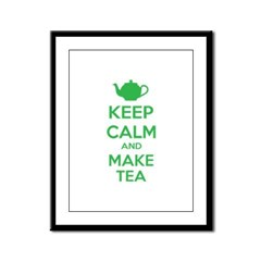 Keep calm and make tea Framed Panel Print