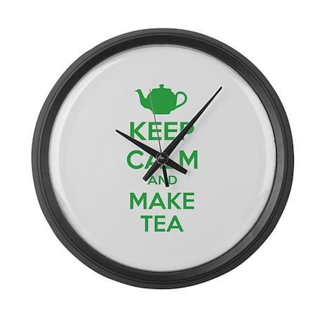 Keep calm and make tea Large Wall Clock