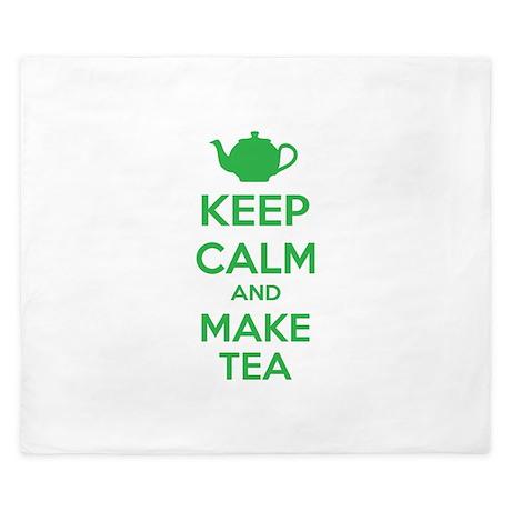 Keep calm and make tea King Duvet