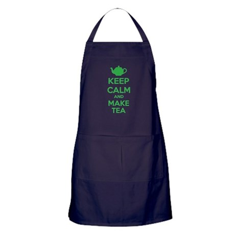 Keep calm and make tea Apron (dark)