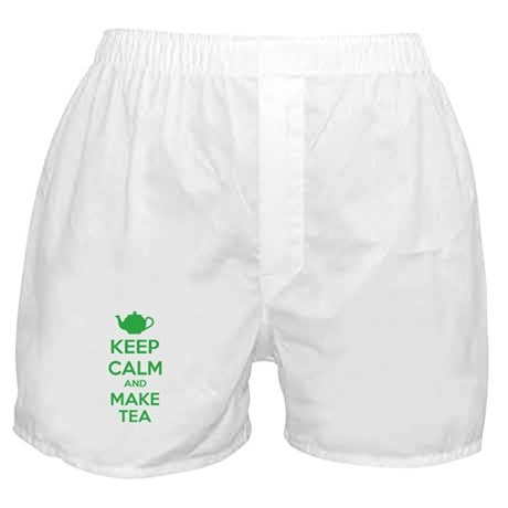 Keep calm and make tea Boxer Shorts