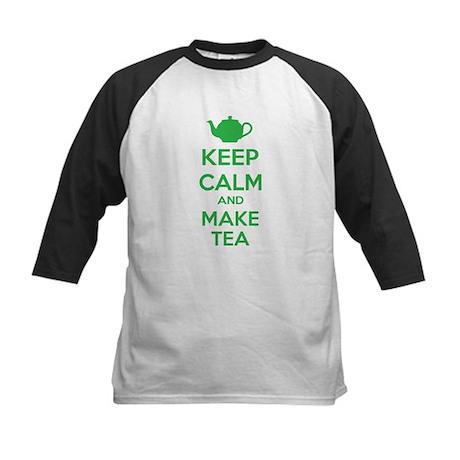 Keep calm and make tea Kids Baseball Jersey