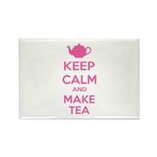 Keep calm and make tea Rectangle Magnet