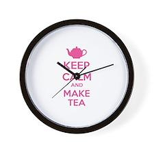 Keep calm and make tea Wall Clock