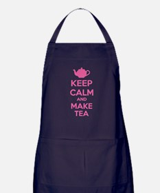 Keep calm and make tea Apron (dark)