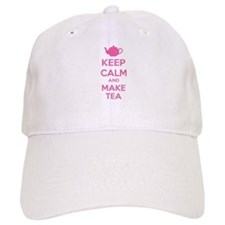 Keep calm and make tea Baseball Cap