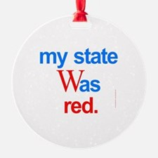 state red Bush Election Voted Ornament