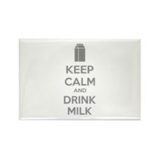 Keep calm and drink milk Rectangle Magnet (10 pack