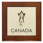 Retro Canada Framed Tile
