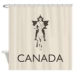 Retro Canada Shower Curtain