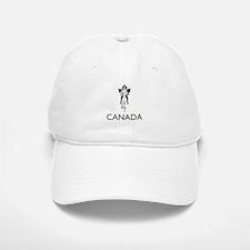 Retro Canada Baseball Baseball Cap